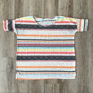 {Flamingo Urban} Loose Fit Striped Woven Top | S